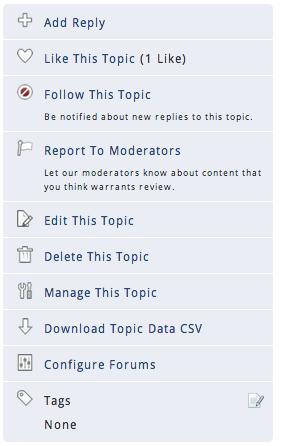 Screen shot of forum topic options