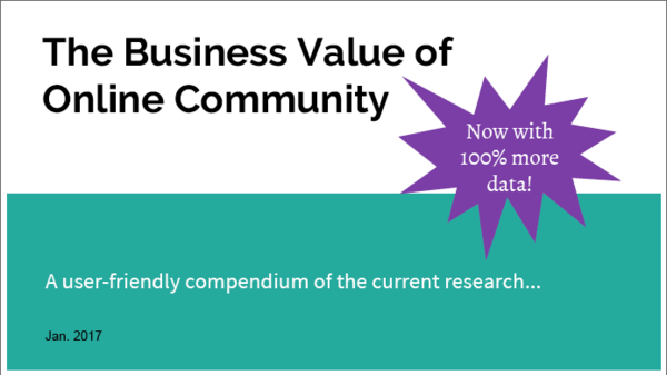 Business value of online community