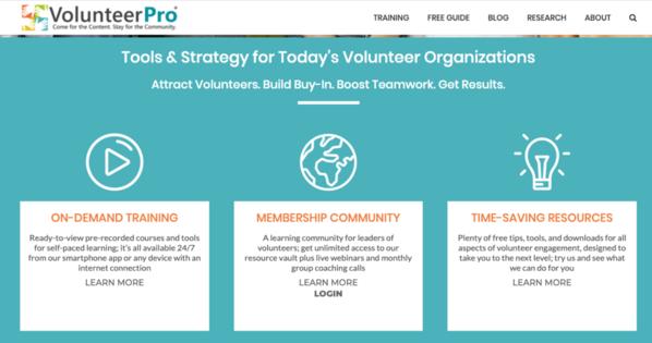 VolunteerPro expert nonprofit training